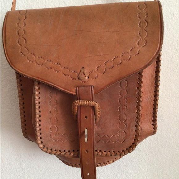 Leather Western Saddle Bag Style Crossbody Purse